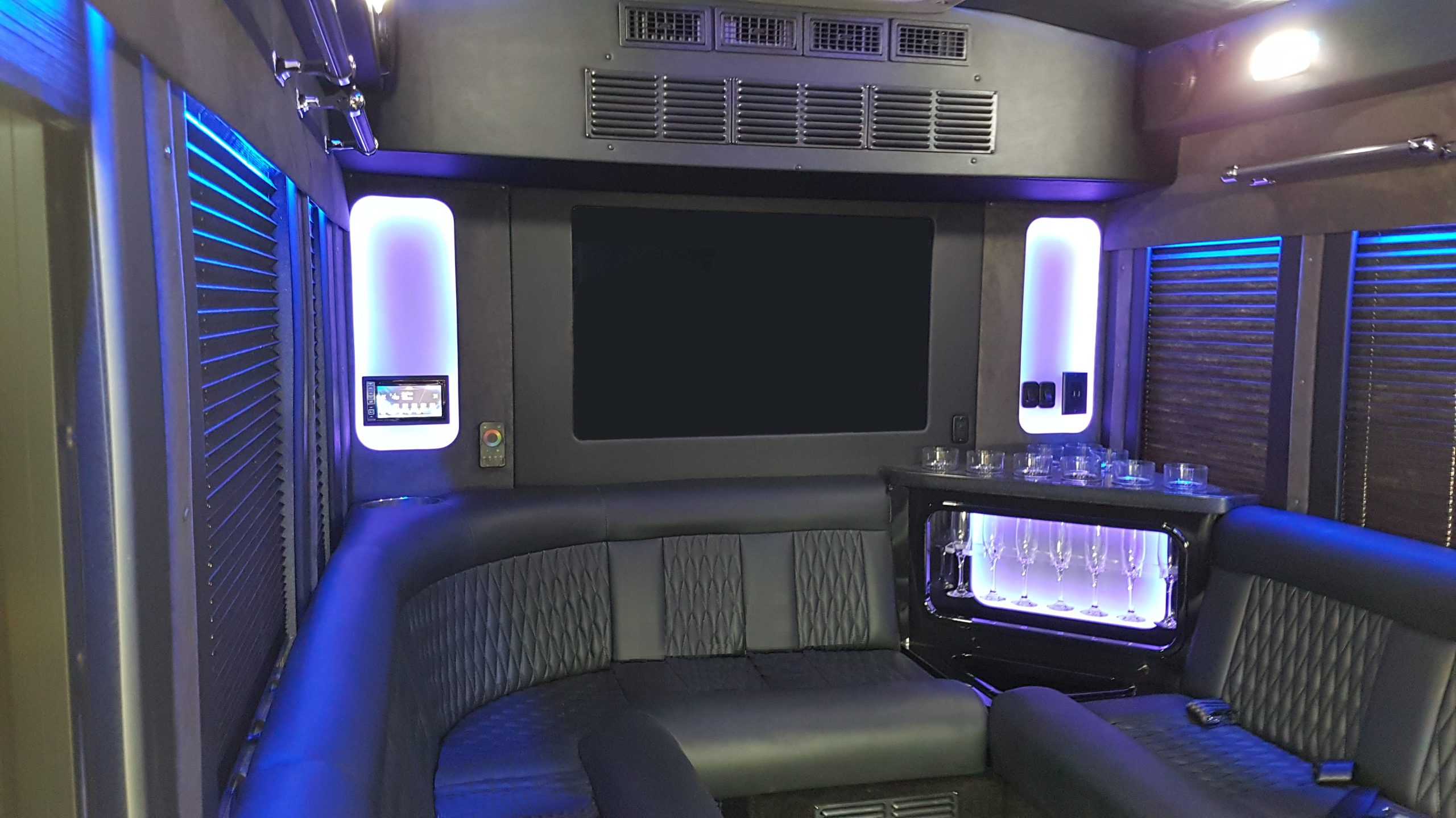 Executive Limo Interior Back lights